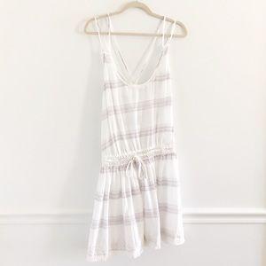 Victoria's Secret Stripe Fringe Pom Coverup Dress